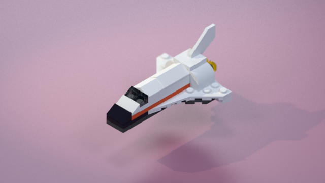 render of a space shuttle lego set