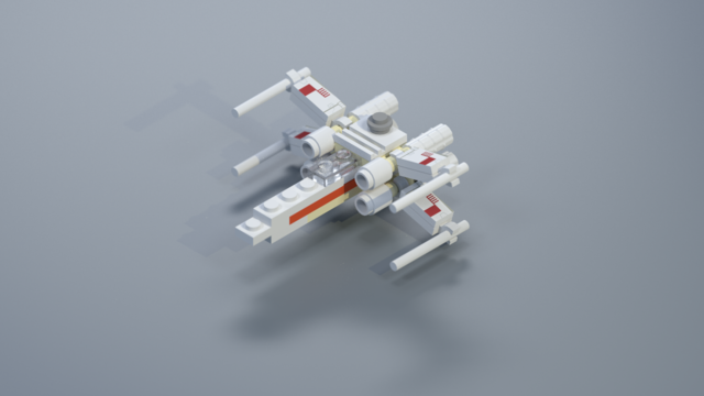 render of a x-wing fighter
